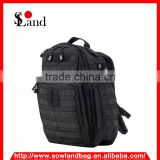 Black 600D military backpack ruch tactical bag