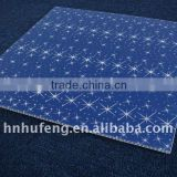 blue pvc ceiling panel with big star