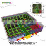Big Cheap Square and Rectangular for kids and adults Indoor Trampoline Park