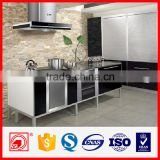 PVC filming or baked paint kitchen cabinet with MDF or plywood materials