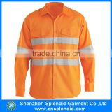 shenzhen hi vis garment readymade manufacturer safety work shirts