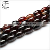 Natural Semi-Precious Gemstone Dream Agate Barrel Drum Rice Shaped Loose Beads Strand for Jewelry making
