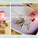 small bell shaped keychain metal/souvenir keychain/coin keychain