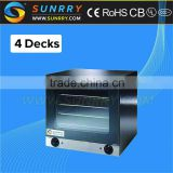 Commercial bakery equipment 4 trays naan tortilla bread making halogen convection oven