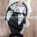 Shark Shaped Multi-color Cotton Children Sleeping Bag