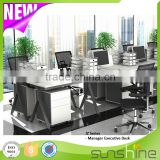 Furniture & furnishings modern design cast iron table base melamine MFC board office workstation