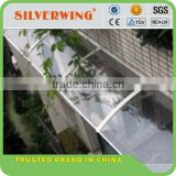 Wind resistant polycarbonate commercial awning wtih aluminum awning brackets arm for balcony