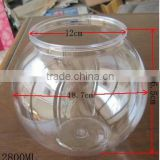 Cheap price plastic clear small fish bowl,high quality 2800ml fish bowl for promotion wholesale