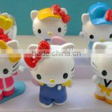 OEM make Hi-Q plastic pvc (vinyl) anime lovely and cute cat figure dolls / cat anime figure dolls for baby/ cartoon cat dolls