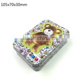 105x70x30mm,New hot sale colorful printing metal suger small metal tin box with hinged lid                                                                         Quality Choice