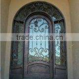 Eyebrow arch wrought iron grill door designs made in China                                                                         Quality Choice