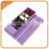 Handmade kraft food cake paper box container with ribbon