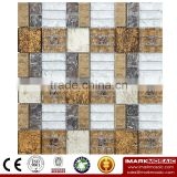 IMARK Electroplated Color Glass Mix Ceramic Mosaic Tiles (IXGC8-092) for back splash mosaic wall art