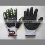 High Impact Anti-cut Protective TPR Glove with wrist attachment