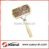 Pet grooming tools slicker brush with wood handle