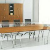 2012 The latest design melamine metal legs Office conference table furniture manufacturer