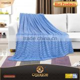 Wholesale little mermaid blanket and 100%polyester thick flannel blanket with flower embossing technology.