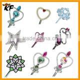 cheap high quality plastic plated princess fairy wands for wedding and festival or birthday
