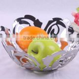 flower shaped stainless steel fruit basket bread basket