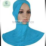 Super soft bamboo cotton jersey fabric women inner hijab cap