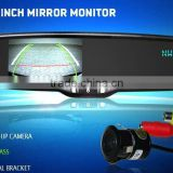 GERMID 4.3 inch digital mirror monitor with Compass and temperature display and 2 video inputs car rear view mirror