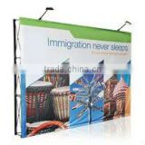 10ft Pop Up Trade Show Displays / Backdrop Wall Fabric Exhibition Fabric Pop up Display Booth