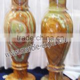 Dark green Onyx marble flower vases