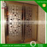 Metal Door Decors 201 316 304 Mirror Etched Stainless Steel Sheet Decorate for KTV Wall Panel