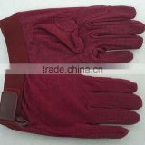 Lightweight cotton horse Riding Gloves with pimple palm