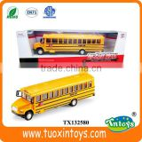 double-decker scale school diecast bus model toy