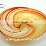 blown glass plate wall decoration;decorative hanging wall plates;decorative glass plate wall art
