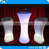 Color changing plastic LED illuminated bar stool / battery rechargeable LED single light seat