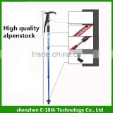 Ultra-light Telescopic Hiking Stick Anti-shock Anti-skid Walking Stick Trekking Pole 4 section Alpenstock