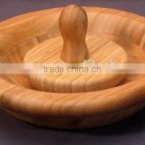 FDA&LFGB, Bamboo Mortar and Pestle Set