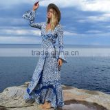 Boho Print Ladies Long Casual Dresses Pictures