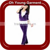 Girl's Velour Zip Tracksuits in Plus size