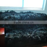 120*180CM YR605Genuine Goat Sheep Long Hair Blankets/2016 New Arrival