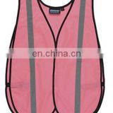 Pink mesh reflective safety vests