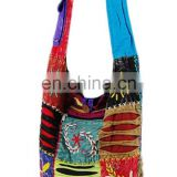 Handmade Canvas Floral Embroidered Vintage Fabric Ethnic bag