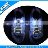 Latest electric shoelaces with different color light on wholesale