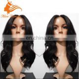 Middle Part Natural Wave Full Lace Silk Top Wig Virgin European Human Hair With Natural Hairline