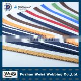 100% polyester cotton elastic webbing belt material made in china