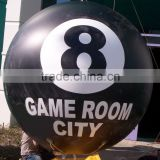 Best sale advertising inflatable helium billiard ball,billiards shape inflatable balloon