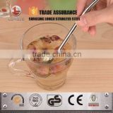 New designed stainless steel drinking straw with spoon