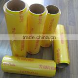 pvc cling film for food and meat packing.pvc cling film use for kitchen and supermarket.with high quality and low price.