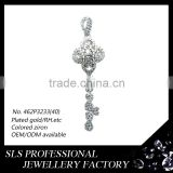 Flower pattern key pendant popular for girls 925 sterling silver jewelry necklace pendants charm
