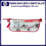 Wholesale Zipper Lock custom printed pencil case for teenagers
