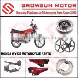 Hon. WY125 Motorcycle Spare Parts, front hub, wheel, brake shoe