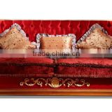 European classic wood sofa with hand carving living room sofa antique furniture A65360 (3seat)