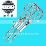 7x7 galvanized steel wire rope with aluminium sleeves